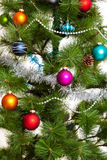 Christmas-tree decorations happy new year. Christmas-tree decorations merry christmas 2017 Royalty Free Stock Photos