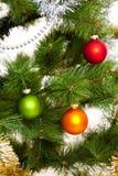 Christmas-tree decorations happy new year. Christmas-tree decorations merry xmas poostcard holidays 2017 Stock Photography