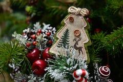 Christmas tree and Christmas decorations. royalty free stock photos