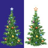 Christmas tree with decorations Royalty Free Stock Photos
