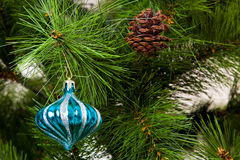 Christmas-tree decorations image for postcard Royalty Free Stock Image