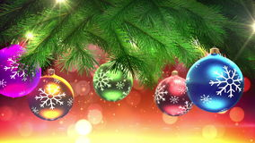 Christmas tree and decorations loop stock illustration
