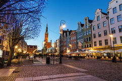 Christmas tree and decorations in old town of Gdansk Royalty Free Stock Photo