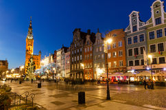Christmas tree and decorations in old town of Gdansk Royalty Free Stock Photos