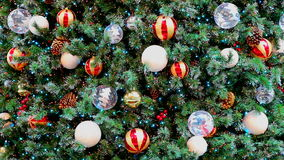 Christmas tree with decorations stock video footage