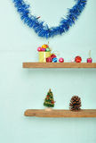 Christmas tree decorations in party home Royalty Free Stock Photos