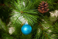 Christmas-tree decorations postcard design concept Royalty Free Stock Image