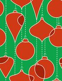 Christmas-tree decorations- seamless pattern. Christmas-tree decorations - seamless pattern on green background Stock Image