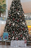 Christmas tree with decorations at shopping center Olympia Stock Photos