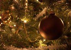 Christmas tree decorations. Some christmas tree decorations ball Royalty Free Stock Photography
