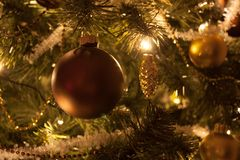 Christmas tree decorations. Some christmas tree decorations ball Stock Image