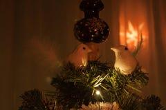 Christmas tree decorations. Some christmas tree decorations birds stock photos