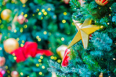 Christmas Tree with Decorations Stock Image