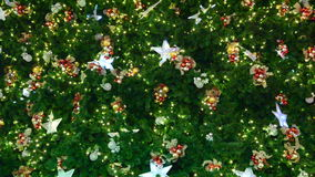 Christmas-tree decorations stock footage