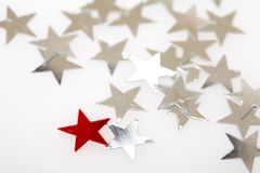Christmas tree decorations stars Stock Image