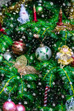 Christmas Tree in Decorations such as Fairies, Butterfly, Candle Royalty Free Stock Image