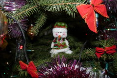 Christmas tree. Decorations Christmas toys Royalty Free Stock Images