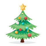 Christmas Tree Decorations and Toys New Year  Icon Cartoon Design Vector Illustration Royalty Free Stock Photography