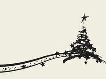 Christmas tree decorative design Royalty Free Stock Photos