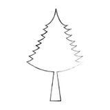 Christmas tree decorative icon Royalty Free Stock Images
