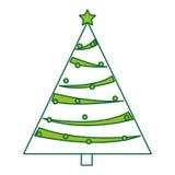 Christmas tree decorative icon Stock Photo