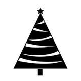 Christmas tree decorative icon Stock Photography