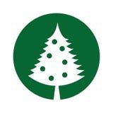 Christmas tree decorative icon Stock Photos