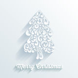Christmas tree decorative shape formed by creative elements Royalty Free Stock Photo