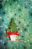 Christmas tree. Decorative christmas tree on starlight background Stock Image