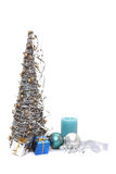 Christmas tree and decors Stock Photo