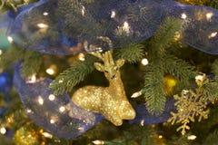 Christmas Tree Deer Ornament Stock Image