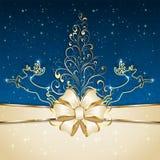 Christmas tree and deers Stock Image