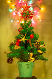 Christmas Tree & Defocused Lights Royalty Free Stock Images