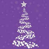 Christmas tree design. Vector art Royalty Free Stock Images