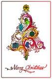 Christmas tree design. Illustration of colorful christmas tree design Royalty Free Stock Photos