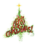 Christmas Tree Design Stock Photography