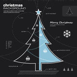 Christmas tree design  background Stock Photos