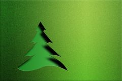Christmas tree. Design element Royalty Free Stock Photography