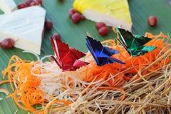 Christmas tree design of food Stock Photography