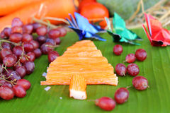 Christmas tree design of food Royalty Free Stock Image