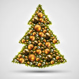 Christmas tree design Stock Images