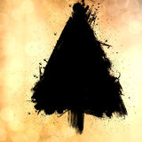 Christmas tree design, grunge bokeh background Stock Images