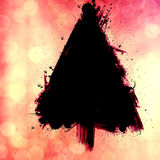 Christmas tree. Design, grunge bokeh background with space for text or image, logo or design Royalty Free Stock Photos