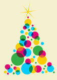 Christmas tree designed with bubbles Stock Image