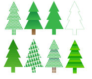Free Christmas Tree Designs Stock Images - 22052124