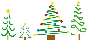 Christmas Tree Designs stock images