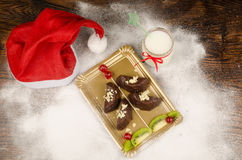 Christmas tree dessert Royalty Free Stock Images