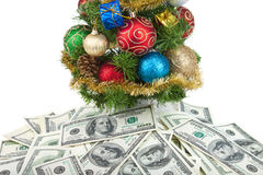 Christmas tree&dollars-1 Royalty Free Stock Images