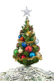Christmas tree&dollars-2 Royalty Free Stock Images