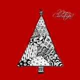 Christmas tree, doodle pattern for your design Royalty Free Stock Images